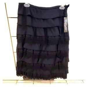 Designer dressy black skirt
